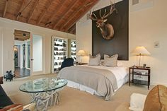"This Saugatuck, MI bedroom does ""rustic chic"" just right."