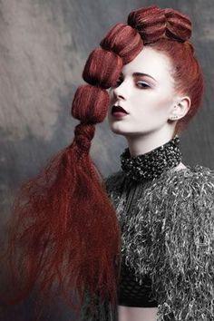 Ruby Hair | Luvly Long Locks Creative Hairstyles, Unique Hairstyles, Up Hairstyles, Avant Garde Hairstyles, Crazy Hair, Big Hair, Loose Hair, Hair Afro, Kreative Portraits