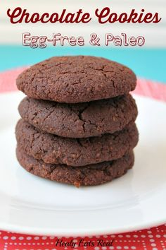 Chocolate Cookies- Egg Free & Paleo @ Healy Eats Real