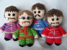 The Beatles amigurumi crochet #handmade #diy Sgt. Pepper