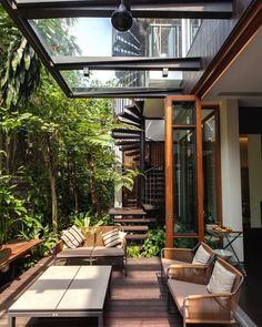 Get inspired with these patio ideas. Browse our photo gallery of beautiful patios, from small DIY projects to professionally designed outdoor rooms. Modern Patio Design, Outdoor Patio Designs, Patio Ideas, Landscaping Ideas, Backyard Landscaping, Backyard Ideas, Terrace Ideas, Garden Ideas, Contemporary Patio