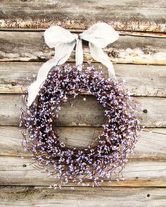 Lilac Lavender Wedding Silver & Purple Wreath by WildRidgeDesign, $50.00