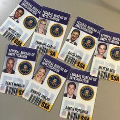 - The Criminal Minds Cast Prop ID Badges… Criminal Minds Season 11, Criminal Minds Memes, Spencer Reid Criminal Minds, Criminal Minds Garcia, Criminal Minds Characters, Thomas Gibson, Detective Aesthetic, Behavioral Analysis Unit, Jennifer Jareau