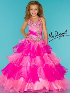 Little Girls Pageant Dress With AB Stones