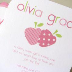 olivia grace's 1st bday invitation @Lauren Henkel!!!!