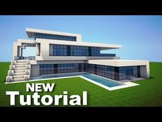Modern mansion floor plans minecraft beautiful minecraft how to build a realistic modern house mansion Minecraft Mods, Minecraft Mansion Tutorial, Easy Minecraft Houses, Minecraft House Tutorials, Minecraft House Designs, Minecraft Buildings, Youtube Minecraft, Creeper Minecraft, Minecraft Crafts