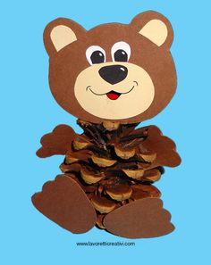 нести конуса осінньо-2 Bear Crafts Preschool, Bug Crafts, Nature Crafts, Felt Crafts, Easy Crafts, Diy And Crafts, Crafts For Kids, Arts And Crafts, School Art Projects