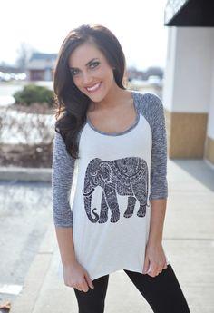 Dottie Couture Boutique - Elephant Burnout, $36.00 (http://www.dottiecouture.com/elephant-burnout/)