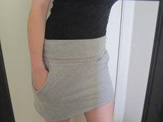 making a tshirt into a skirt!