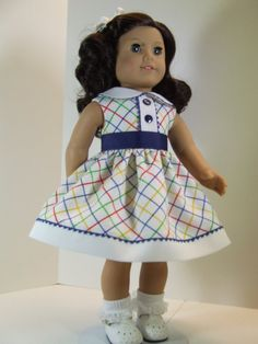 Pique Sundress for American Girl doll Ruthie by agseamstress