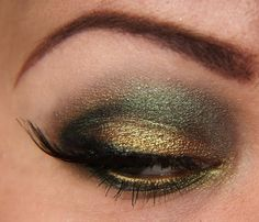 Everyone, I just got some amazing brand name purses,shoes,jewellery and a nice dress from here for CHEAP! If you buy, enter code:atPinterest to save http://www.superspringsales.com -   green MAC pigment make-up look