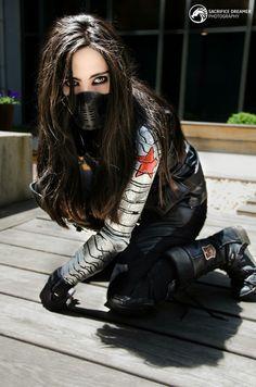 Winter Soldier Cosplay, Soldier Costume, Marvel Cosplay Girls, Superhero Cosplay, Marvel Dc Movies, Marvel Characters, Cosplay Outfits, Cosplay Costumes, Cosplay Ideas