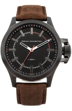 French Connection, Omega Watch, Watches, Leather, Accessories, Fashion, Clock, Fur, Black