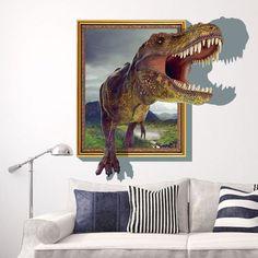 3D Running Tyrannosaurus Dinosaur Unique Vinyl Wall Sticker Decal Home Decor //ebay shop:http://stores.ebay.com/leyintzonline //website:http://ws.metoshop.com