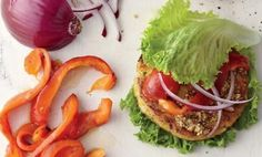 Chickpea Brown Rice Veggie Burger http://vitaljuice.com/entry_detail/recipes/12710/Fill_up_with_veggie_protein_and_fiber_.htm