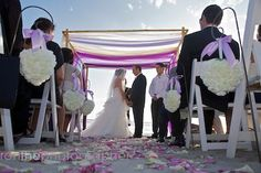 Ombre wedding canopy
