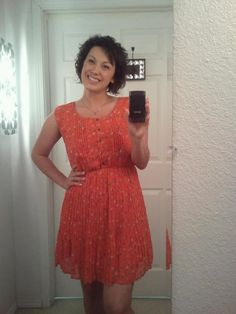 I am wearing one of my favorite dresses today! S, M, L Only $30. :)