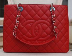 Chanel Gst Red Caviar With Silver Hardware Grand Shopping Tote Bag. Get one of the hottest styles of the season! The Chanel Gst Red Caviar With Silver Hardware Grand Shopping Tote Bag is a top 10 member favorite on Tradesy. Save on yours before they're sold out!