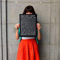 Poster Manifesto 31x41 Schwarz, 23€, jetzt auf Fab.
