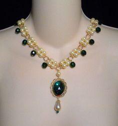 Lady Millicent Tudor Renaissance Medieval Necklace 4 Dress Gown U PICK COLOR
