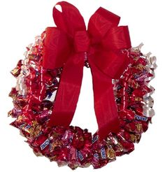 Valentines day Candy Wreath