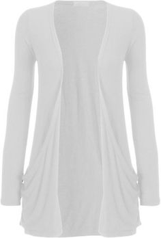Fashion Womens Boyfriend Pocket Cardigan Shrug Sweater (M/L (10/12), WHITE) Fashion, http://www.amazon.com/dp/B008YU8VP4/ref=cm_sw_r_pi_dp_8BQerb1TMD1H9