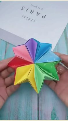 Cool Paper Crafts, Fun Diy Crafts, Creative Crafts, Diy Paper, Paper Art, Crafts For Kids, Arts And Crafts, Origami Easy, Paper Folding