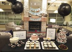 black, white and gold Birthday Party Ideas | Photo 1 of 12