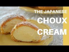 """Today, I will show you how to make Cream puff in Japanese""""Choux cream"""" . This is one of the most popular pastry in Japan. Thin airy choux pastry filled with . Cream Puff Filling, Cream Puff Recipe, Cream Recipes, Asian Desserts, Just Desserts, Choux Cream, Cream Cream, Japanese Pastries, Caramel Pears"""