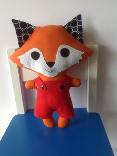 Cute Handmade Fox Stuffed Toy - made by Kids by KasAnne, $20.00 (designed by Pauline McArthur - FUNKY FRIENDS FACTORY.
