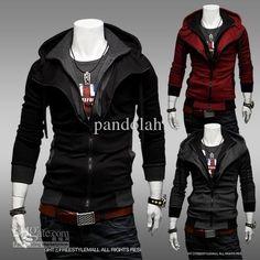 Thin Hoodies Fleece Slim Fits Sweatershirts Contrast Color Fake Twinse – teeteecee - fashion in style