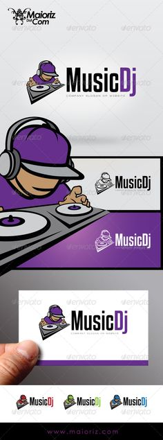 Music Dj	 Logo Design Template Vector #logotype Download it here: http://graphicriver.net/item/music-dj-logo/7339531?s_rank=1221?ref=nexion