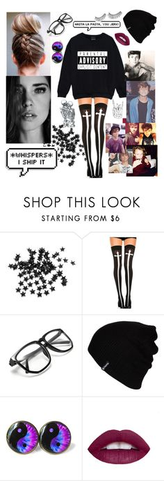 """""""BiteMe"""" by that-goth-cutie ❤ liked on Polyvore featuring INC International Concepts, Chicnova Fashion, Hurley, L.A. Girl and Trish McEvoy"""