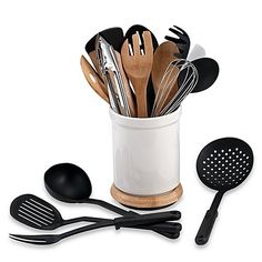 Denmark® Rotating 17-Piece Utensil Crock Set, Perfect For Utensil Organizing, Durable and Easy to Clean >>> You can find out more details at the link of the image.