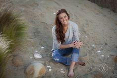 high school senior photography, shot at the beach