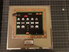 Hunkydory Crafts little dudes collection. Level up space invaders card with docrafts Mr mister backing papers. Baby Boy Cards, Hunkydory Crafts, Space Invaders, Level Up, Kids Cards, Teenagers, Boys, Girls, Boy Or Girl