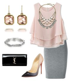 """""""Work wear classics"""" by mandy-lyon-stringer ❤ liked on Polyvore featuring Chloe + Isabel, Alexander McQueen, Chicwish, Christian Louboutin, Yves Saint Laurent, chloeandisabel and Candibymandy"""