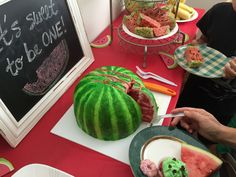 Swoon For Food: Watermelon Themed First Birthday Party