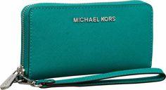 MICHAEL Michael Kors Jet Set Travel Large Multifunction Phone Case Aqua - #accessories #summer #beauty