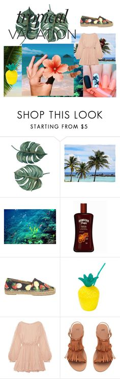 """Tropical"" by henriettesophie-wolff ❤ liked on Polyvore featuring Dolce&Gabbana, LoveShackFancy, H&M, Summer, contest, Flowers, TropicalVacation and summer2017"
