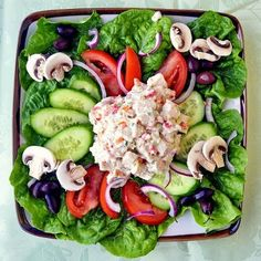 Our Low Fat Ranch Chicken Salad uses no oil at all in the dressing at all, making for a particularly healthy, delicious dinner salad last night. The leftovers are going into some whole wheat pita pockets for lunch.