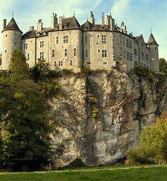 Walzin Castle, Condroz, Dréhance, Dinant, Namur, Belgium Castle Architecture - Natural Defenses