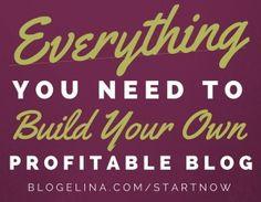 Profitable Blogging for Beginners! Start Your Dream Blog Now!
