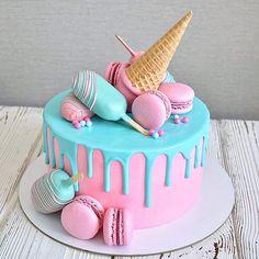 """2,843 अंक """"जैसे"""", 69 टिप्पणियां - इंस्टाग्राम में मरीना सुब्राजा (@domashnie_torty_nf): """"सुप्रभात! वह अवास्तविक हो गया, मैं प्यार में हूँ। । । # केक # tatnasakaza ... »जन्मदिन केक के लिए होम केक, आइस क्रीम पार्टी, आइस क्रीम थीम, कैंडीज की सजावट, केक जन्मदिन केक लड़कियों, मकरुनास के साथ केक, रमणीय केक, पाई"""