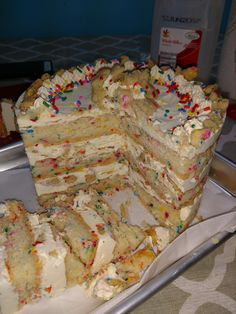 [Homemade] Milk Bar's Birthday Cake #recipes #food #cooking #delicious #foodie #foodrecipes #cook #recipe #health