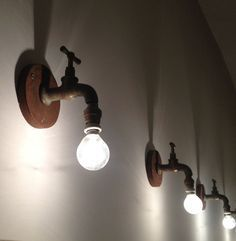 lighting made with old taps.