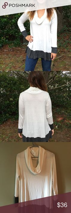 Long Sleeve Soft and comfy  Flowy  A little see through since it is white. Needs to be worn with a tank top Never been worn Tops Tees - Long Sleeve