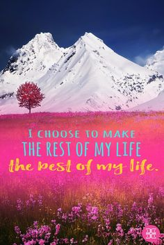 I choose to make the rest of my life the best of my life. #inspiration #dailyinspiration #inspiringquotes #motivationalquotes #beinspired #quotes #memes  Download your FREE eBook copy on My guide to feeling Beautiful: https://beautiful.darviny.com
