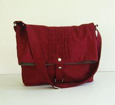 Verkauf - Maroon Baumwolltasche Twill, Tasche, Tote, Umhängetasche, Messenger, einzigartigen, stilvollen - Fiona