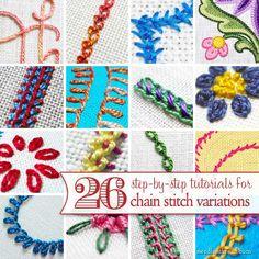26 Chain Stitch Variations - Tutorials